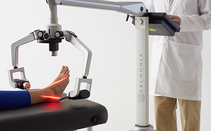Healing with laser treatment